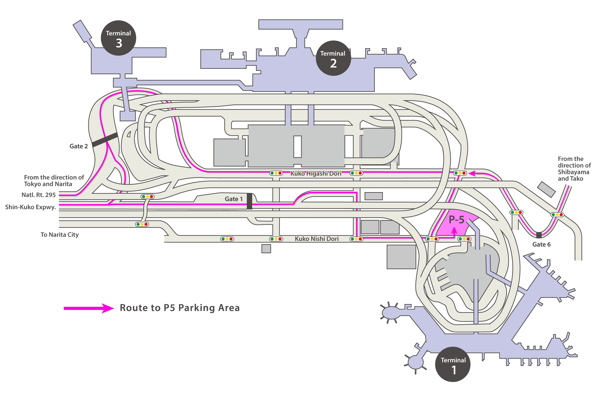 Terminal 1 P5 Parking Area Map