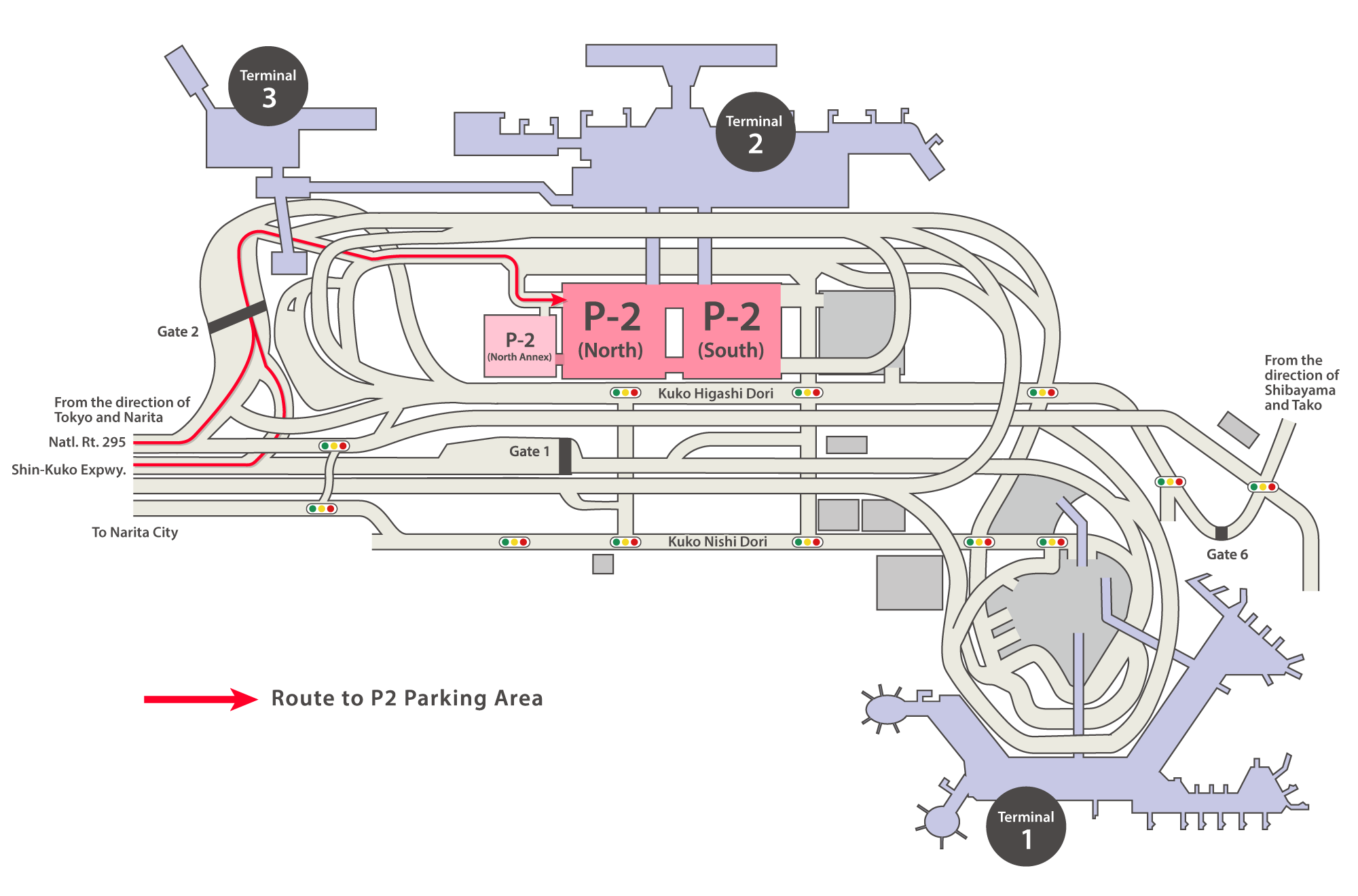Terminal 2 P2 Parking Area Map